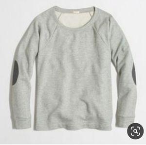 J.Crew Elbow Patch Sweatshirt